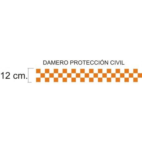 Vinilo reflectante para vehículos de Protección Civil de 12 cm.
