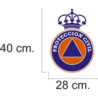 Vinilo reflectante para vehículos de Protección Civil de 16 cm.