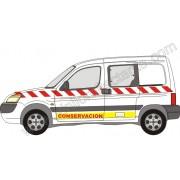 Kit de vinilo reflectante para vehículos tipo BERLINGO